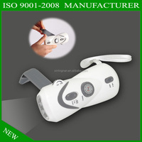 hand crank dynamo rechargeable flashlight torch led hand cranking dynamo flashlight