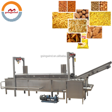 Automatic small continuous conveyor fryer machine food small belt type frying equipment good price for sale