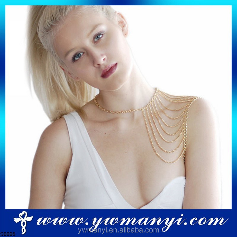 2016 fashion design wholesale china shoulder chain body jewelry S0006