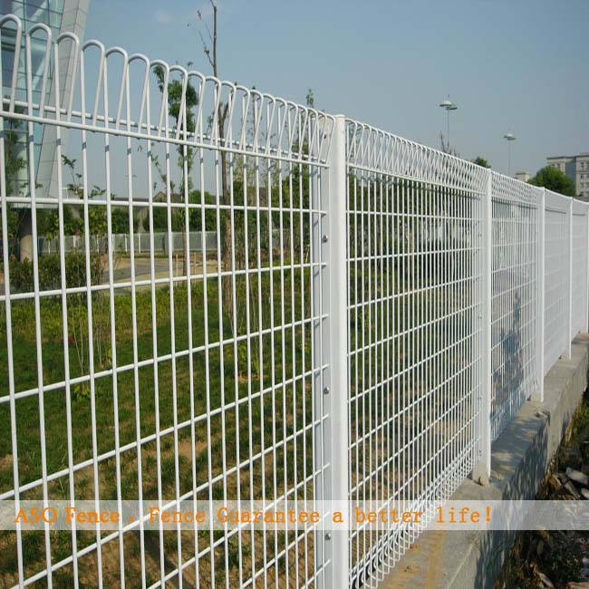 6mm diameter big mesh hot dipped galvanized and pvc coated rolltop fence