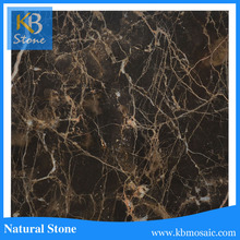 Competitive Price brown marble slab for kitchen counter top (Emperador dark tile )