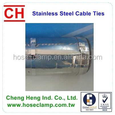 Insulation pipe banding tie, CV Boot banding tie, stainless steel cable tie