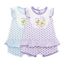 2017 Lovely Summer Baby Clothes Dots Prints Ruffle Sleeveless Baby Romper