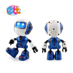 Battery operated metal mini toy robot for kids