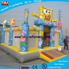 2015 inflatable bouncy green and orange color/Inflatable Sponge fun Bob osean world bouncer for kids fo sale
