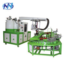 60 stations ring production line pu shoe injection machine with material oven for safety shoes