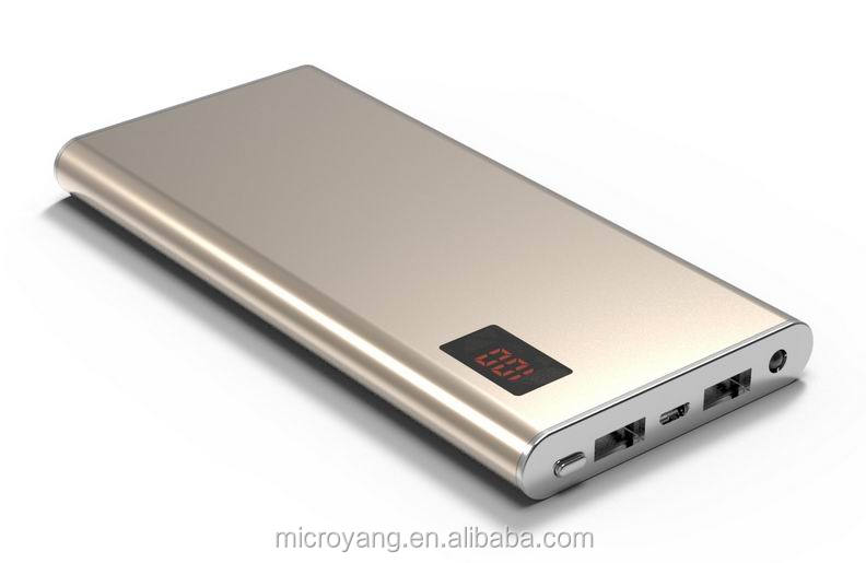 portable external metal phone Battery charger power bank 10000 with real capacitymah