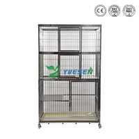 Cheapest price animal use outdoor cat cage /dog kennel cage stainless steel/ cheap dog cage from direct factory