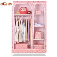 Etra large double folding wardrobe simple wardrobe steelframe combination of simple cloth wardrobe