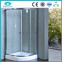 CONSTAR tempered glass shower booth with aluminum frame