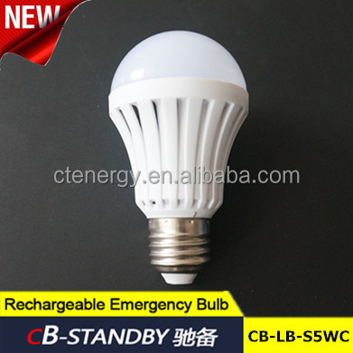 Rechargeable led light home emergency back up 4hours mini light bulb