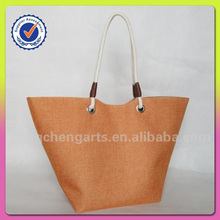 Fashion beautiful tote bag with polyester ladies handbag manufacturers