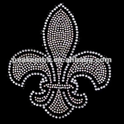 Hot Fix Rhinestone Templates for Fleur De Lis Heat Transfer