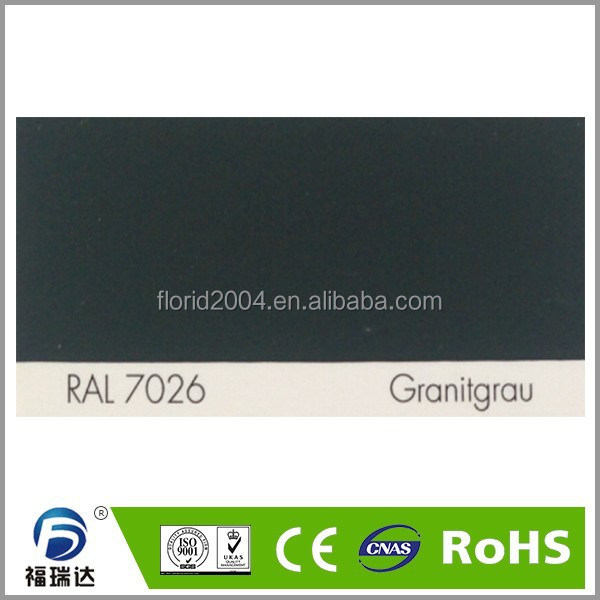 Powder paint interior glossy smooth RAL7026 granite grey