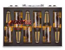 Foam padded aluminum beer carrying case briefcase