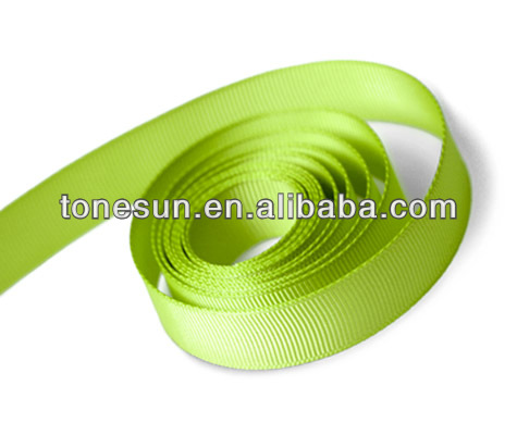 Apple Green Polyester Grosgrain Ribbon for Maple Sugar Festival Canada