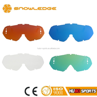 Multicolor anti fog high impact motocross motorcycle interchangeable lenses