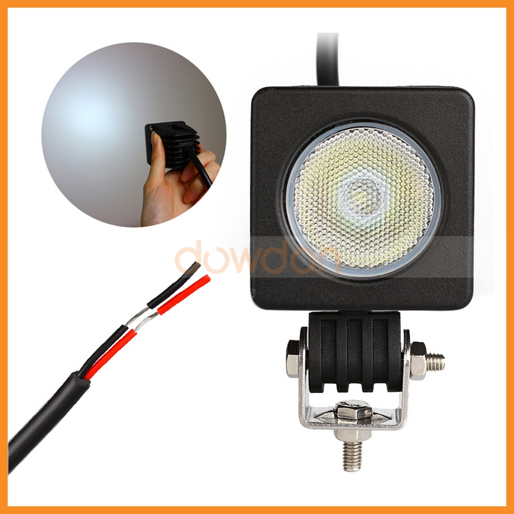IP68 Lightning Protection 10W 12V Round Light Bar PC Lens LED Work Light Cree