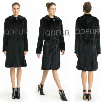 QD70751 Newest Women Clothes 2015 Fashion Dress Sheared Natural Korean Mink Fur Coat Women 2015