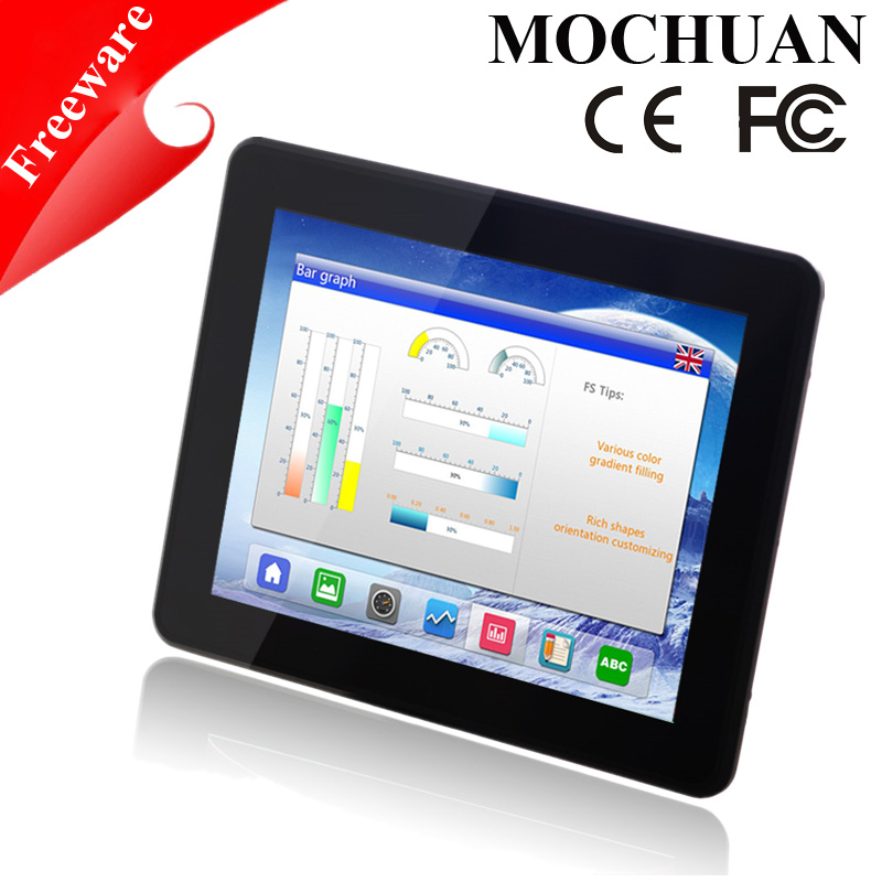 machine control tft lcd 7inch industrial hmi touch screen panel waterproof