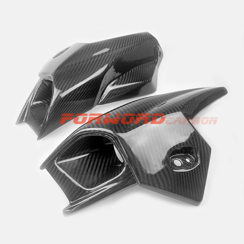 Quality carbon fiber motorcycle parts 3K twill glossy carbon fibre tuning side fairings air intake covers for BMW K1300R