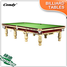 Shender 8 FT 10FT Classic Hand Carved Billiards Snooker Pool Table