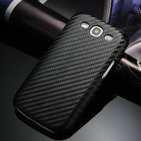 Luxury back cover leather case for samsung galaxy s3 iii i9300,Carbon fiber pattern leather cover for galaxy s3 i9300