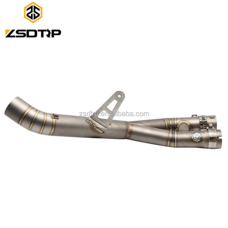 New products fashion profession modified double pipes stainless steel motorcycle metal motorcycle middle exhaust pipe