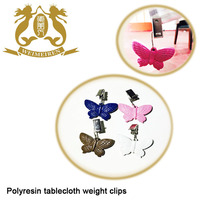 Polyresin tablecloth weight clips,table accessory