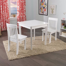 Cubby Plan Hot Sale Popular Customization Pine Wood Kid Table and Chairs