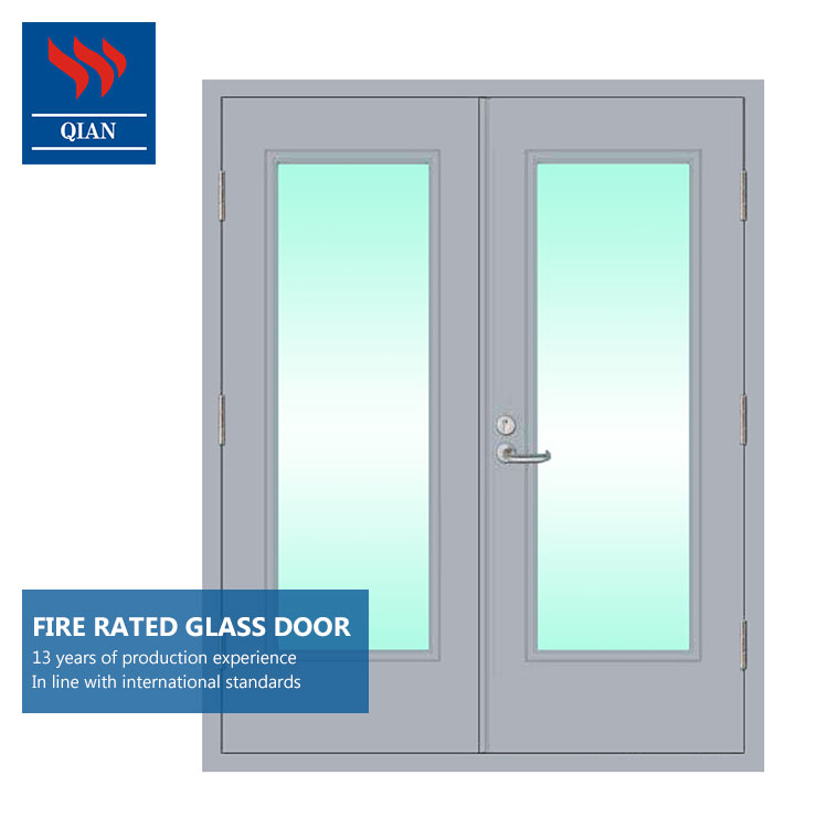 Apartment Exterior Fire Rated Frosted Glass Doors Price For Front