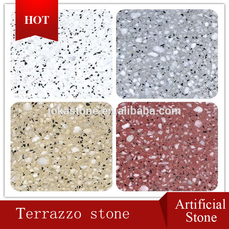 2016 most popular white terrazzo pathway with best quality and low price