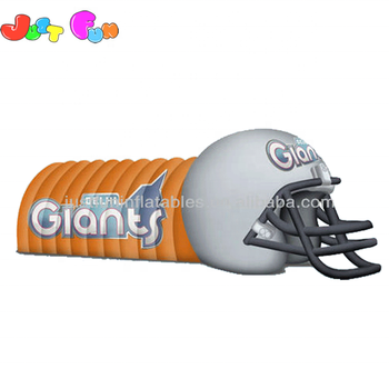 Hot sale inflatable football helmet tunnel