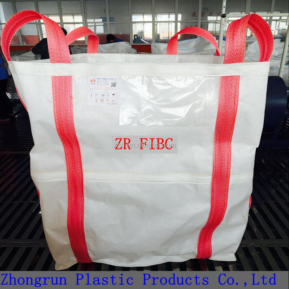 Factory price 1000kg fibc bag for sand , chemical and starch , 1500kg uv resistance plastic jumbo bag
