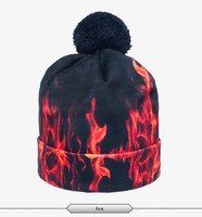 2015 latest adult unisex polyester 3d print apple fire flame design man hat