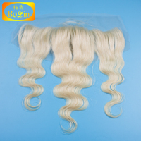 aliexpress hair new products #613 bleached blonde color body wave hair lace frontal 7a closure