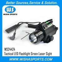 Tactical Green Laser Sight with Tactical Flashlight LED Flashlight for gun