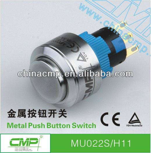 CMP MU series 16mm 22mm Convex waterproof stainless steel push button electrical switch Easy to install