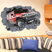 3D Car wall sticker for kids room decoration Item SIS-02 stock for retail selling