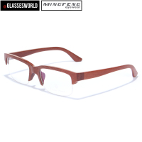 2015 Wood half Frame Glasses Fashionable Wood Optical Frames FW951