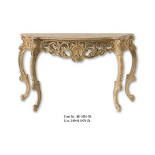 French Style Reproduction Living Room Furniture Console Table With Wood Top