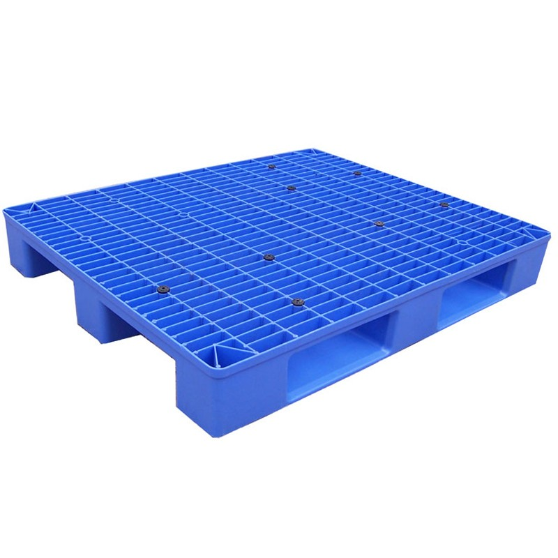 4-way Bule Flat Surface Plastic Pallets With Nine Feet