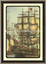 framed ship picture