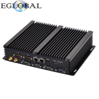 Eglobal Cheap Industrial PC DC 12V Power Supply Fanless Intel Core I3 Mini PC with 6COM and 4USB