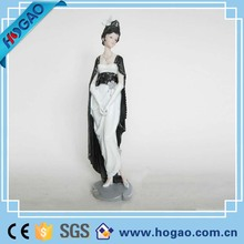 Home Decoration Black White Resin Sex Girl Polyresin Figurine