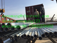 hot galvanized steel pipe with screw thread
