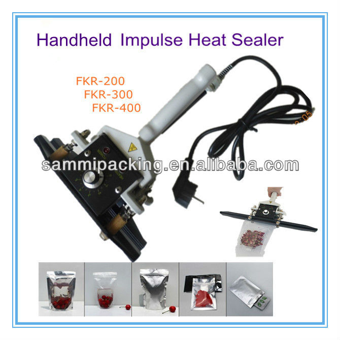 FKR-400 Plastic Film bag Hand clamp-sealing machine /hand clamp aluminium bag heat sealer