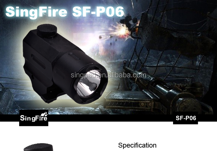 Bright pistol flashlight gun tactical led flashlight with mount