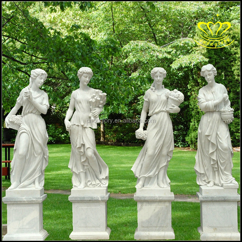 Landscaping Decoration Garden Marble Carving Life Size Greek Figure Statues