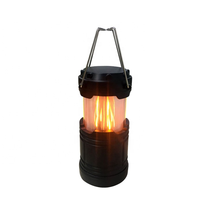2 Modes Outdoor foldable waterproof led camping light lantern by AA battery